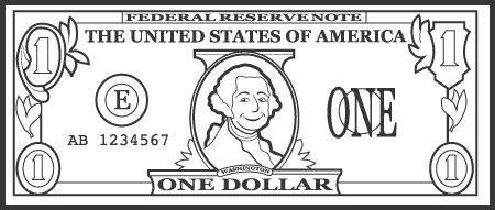 five dollar bill clipart black and white free 1 dollar cliparts free clip free clip