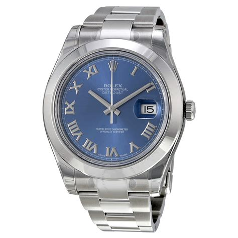 Rolex Datejust II Blue Dial Stainless Steel Oyster ...