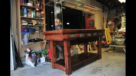 gallon aquarium stand build youtube