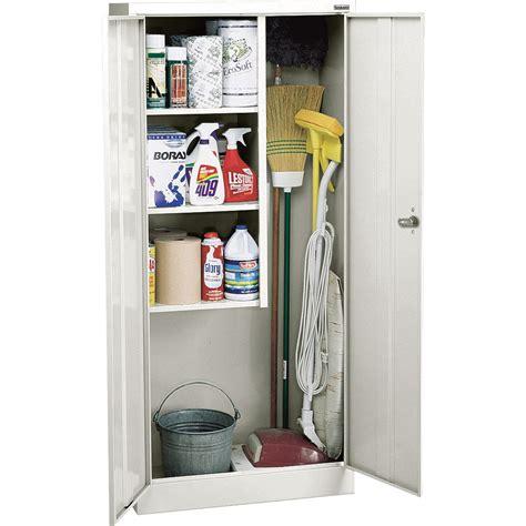 cleaning supplies storage cabinet sandusky lee welded steel janitorial cabinet 30in w x