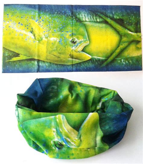face mask fishing neck sun protection scarf buff pattern gaiter fish head uv tube seamless headband nose ears boating scarves