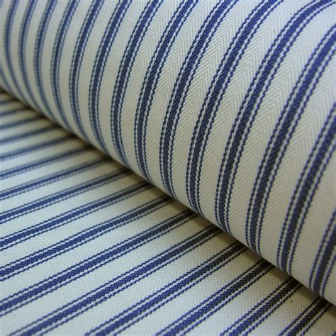 Ticking Upholstery Fabric by Cotton Ticking Fabric Navy