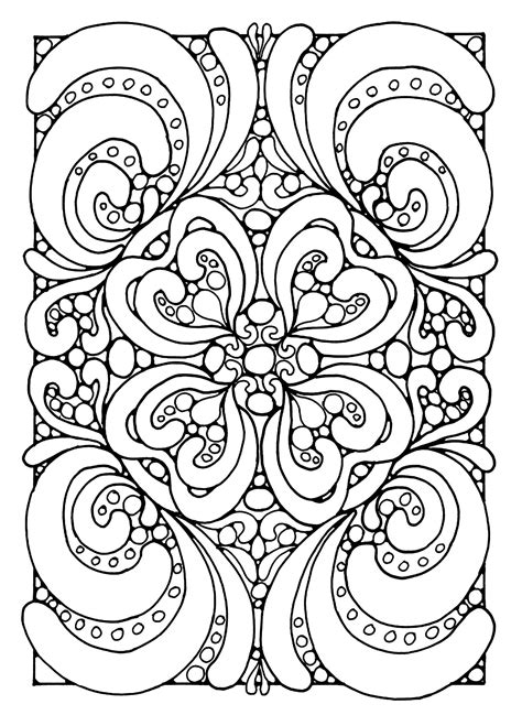 coloring page coloring abstract zen coloring