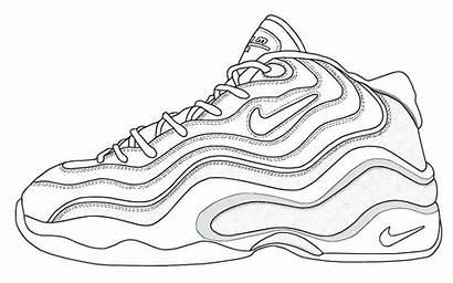 Coloring Jordan Nike Pages Shoes Printable Sneakers