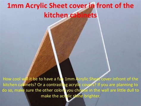 kitchen cabinet cover sheet 1mm acrylic sheet cover in front of the kitchen cabinets