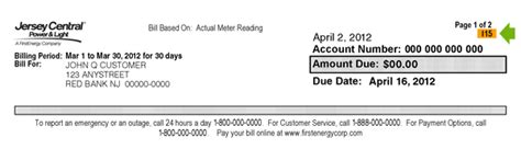 jersey central power and light bill pay jersey central power light 2018 meter reading work