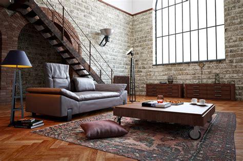 chambre style usine le béton ciré dans la déco industrielle