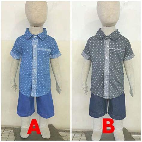 jual beli baju bayi anak laki laki setelan kemeja