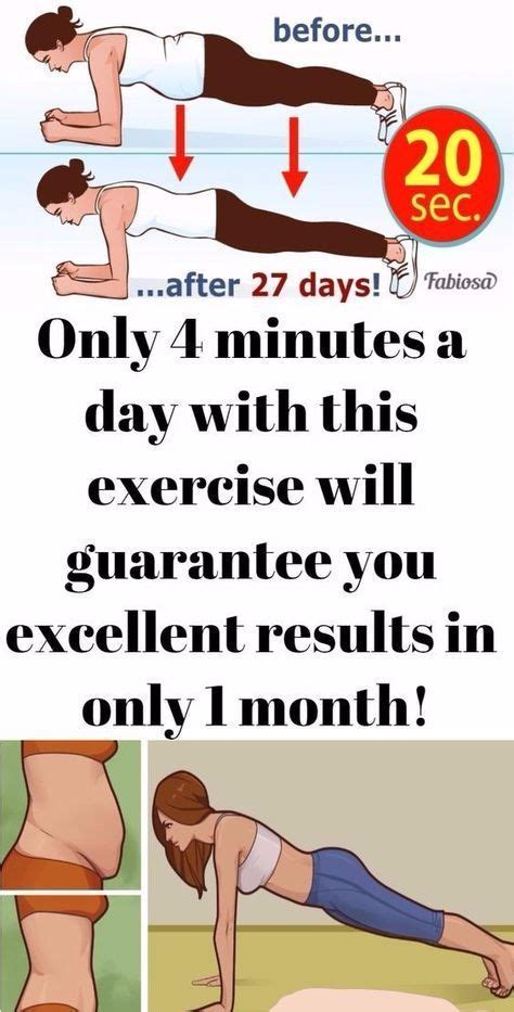 Only 4 Minutes A Day With This Exercise Will Guarantee You