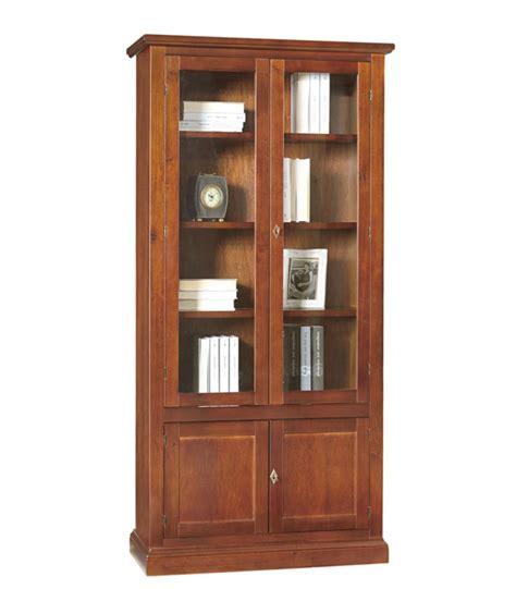 libreria chiusa libreria classica legno 2 ante vetri