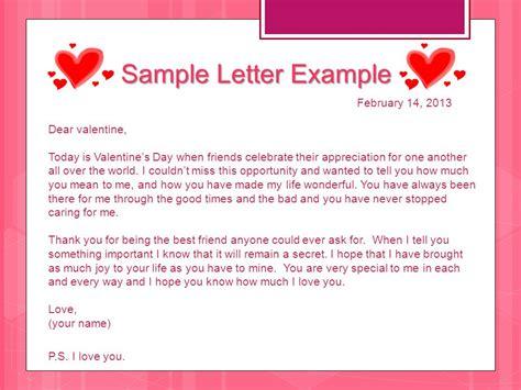 sample valentines day letter
