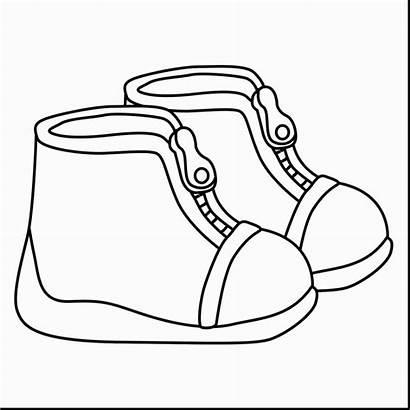 Outline Shoe Drawing Vans Shoes Template Getdrawings
