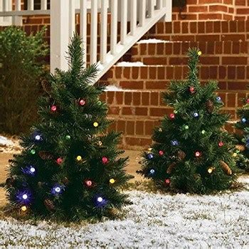 cordless outdoor decorations cordless led pre lit walkway tree absolute