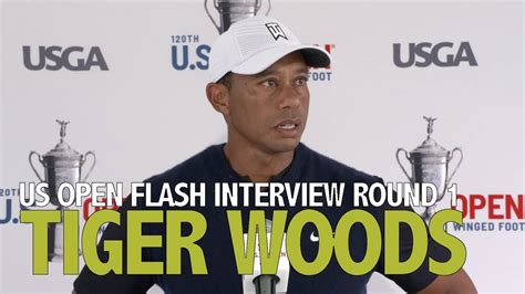 Tiger Woods Thursday Flash Interview 2020 US Open - Round ...