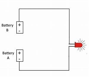 why two separate batteries in a circuit don39t work With creating a circuit