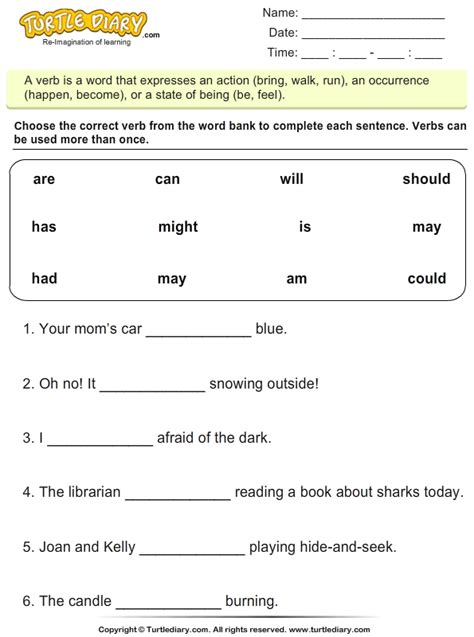 complete sentences     worksheet turtle diary