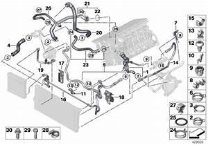 Bmw Hybrid 7l Coolant Hose  Cooling  Hoses  Engine