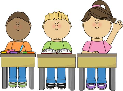 Student Sitting At Desk Clipart by Free Time And Structured Time The Price