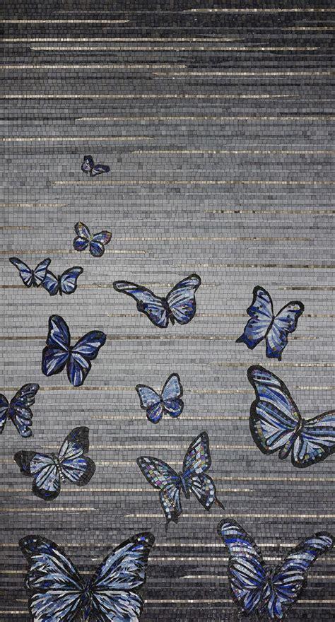 sicis mosaic tile butterfly platinum  midsummer