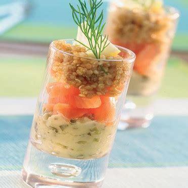 Recette Cuisine Juive - entrée verrine de saumon fumé alliance le premier