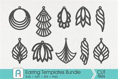 Svg Leather Earrings Template Teardrop Earring Faux