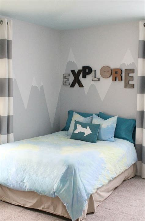 Bedroom Painting Ideas Diy by Diy Mountain Wall Mural For A Room Shelterness