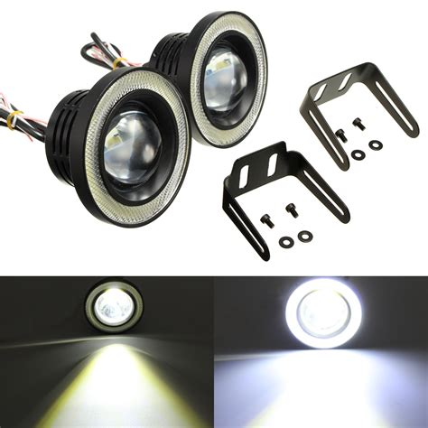 led lights 3 inch 2pcs 3 5 inch led fog light projector angel eyes super