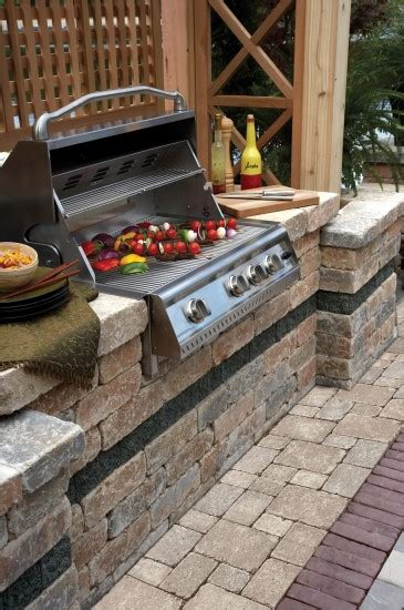 unilock grill island brussels block patio with brussels dimensional bbq grill