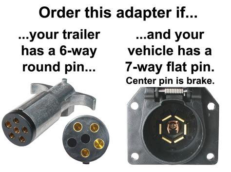 6 Pin To 4 Pin Wiring Diagram by 7 Way Flat Pin To 6 Way Pin Connector Adapter
