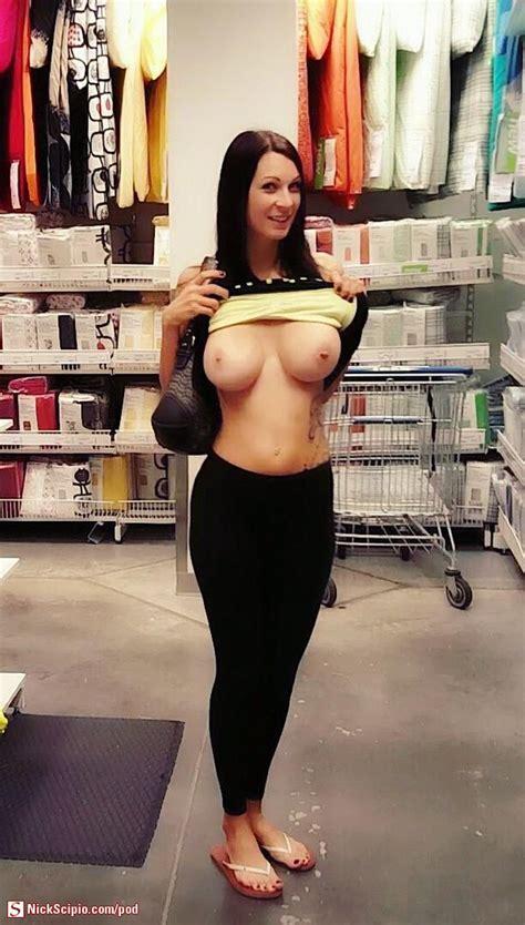 Sexy Brunette Milf Flash In Store Picture Of The Day Nickscipio Com