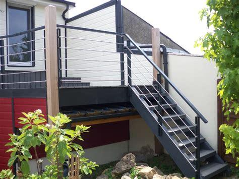 garde corps escalier exterieur escaliers exterieurs et garde corps