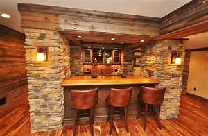 Western themed basement - Rustic - Home Bar - other metro