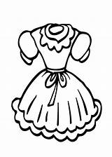 Coloring Pages Dress Doll Printable Clothes Clothing Dresses Clipart Cartoon Sheets Ages Printables Clipartmag Clip Books sketch template