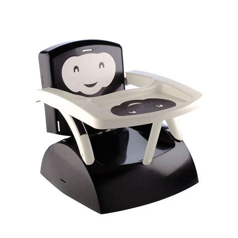 rehausseur de chaise bebe thermobaby réhausseur de chaise babytop noir noir et
