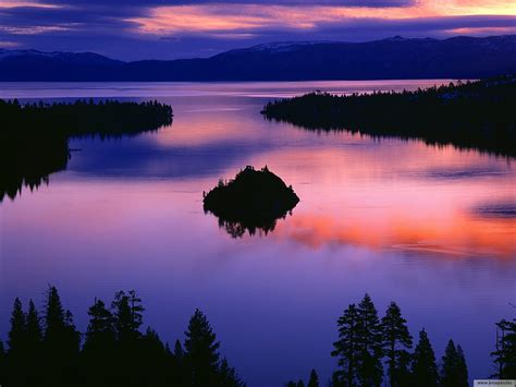 Lake Tahoe Summer Sunset   wallpaper.