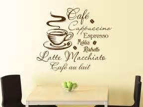 wandtattoo kaffee mit kaffeetasse und kaffeesorten wandtattoo de - Wandtattoo Küche Kaffee