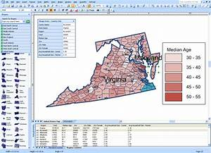 Visio Mapshapes For States And Counties In United States