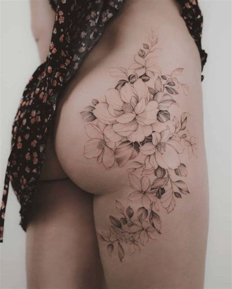 hip tattoo flowers upload  share  images