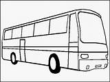 Bus Coloring Realistic Transportation sketch template