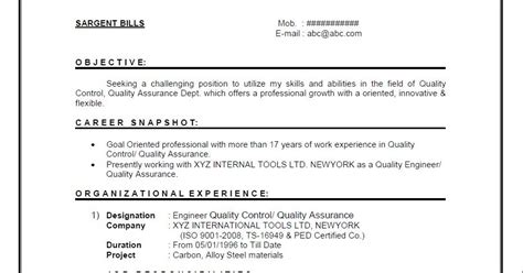 A W Resume Sle by 3100 Business Writing Department Of