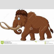 Cartoon Mammoth Isolated On White Background Stock Vector  Illustration Of Mascot, Brown 100139873