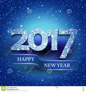 happy new year 2017 blue background stock vector image 75017396