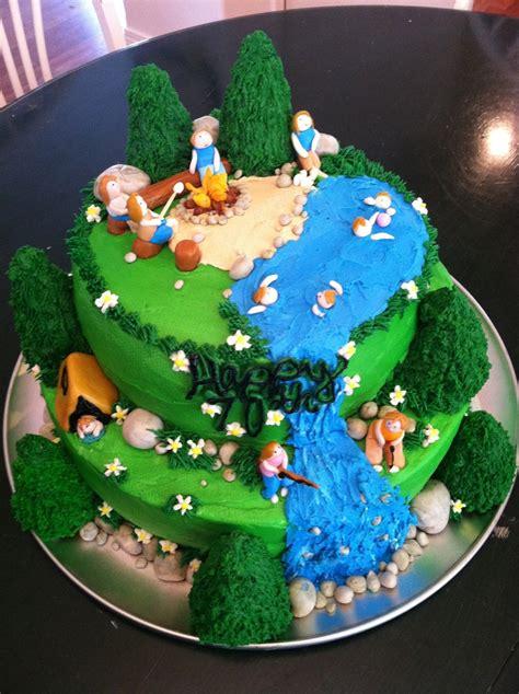 camping birthday cake cakecentralcom