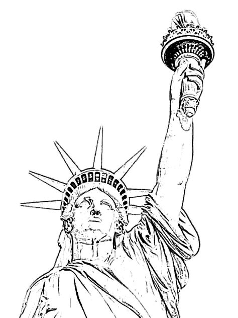 grover cleveland  statue  liberty coloring page