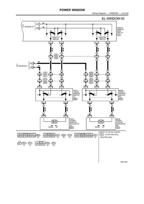 Power Wiring repair guides electrical system 2003 power window
