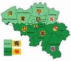 Belgium provinces map by Samogost on DeviantArt