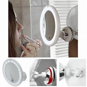 Kosmetikspiegel Mit Saugnapf : kosmetex spiegel mit 10 fach vergr erung led beleuchtung und saugnapf ~ Sanjose-hotels-ca.com Haus und Dekorationen