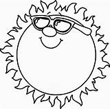 Coloring Sun Pages Solar System Printable sketch template