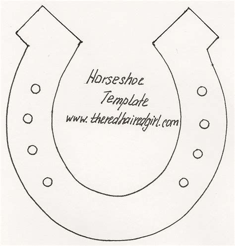 horseshoe template photo frame inspired me theredhairedgirl