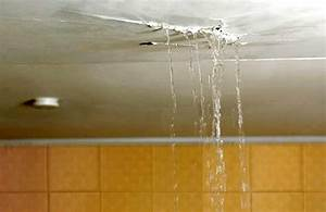How to fix a leak from the upstairs bathroom for Ceiling leak from upstairs bathroom